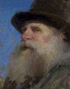 Het Olieverfschilderij van het portret - Klassiek Portret