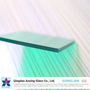 4mm Vert clair pour mur rideau en verre réfléchissant