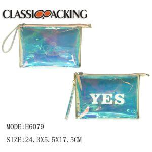 工場価格贅沢な旅行装飾的な袋の構成袋をハングさせる透過PVC水証拠