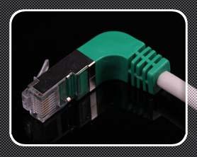 Cat5e/Cat6 Cable de conexión en ángulo recto