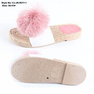 L'été Indoor Logo personnalisé la fausse fourrure EVA Diapositive sandale ordinaire pour les femmes