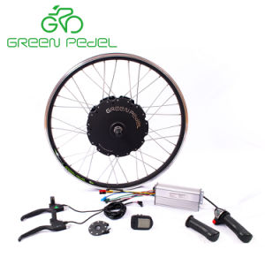 緑のPedel GpD27f/R 500W 750Wの電気バイクGearlessモーター変換キット; 防水キット