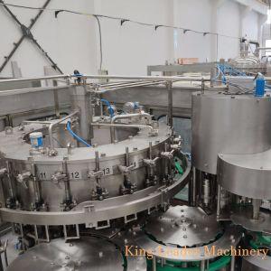탄산 음료에 의하여 병에 넣어지는 충전물 기계장치/소다수 병조림 공장