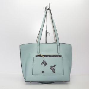 Женщина в европейском стиле женская сумка с большой емкости PU сумку для магазинов