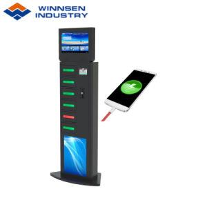 LCD, der Spieler-allgemeiner Verbrauch-Handy-Ladestation mit Reklameanzeige-Funktion bekanntmacht