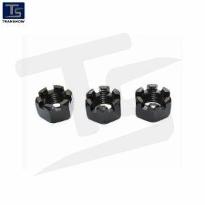 M18-M72 DIN935 l'écrou crénelé hexagonal en acier au carbone/l'écrou crénelé
