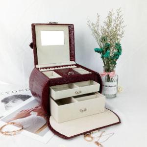 宝石類の記憶のための女性美の構成のケースの革化粧品の包装ボックス