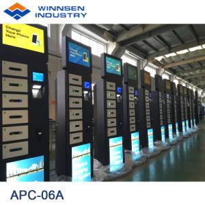 6 Schließfächer, die Handy-Ladestationen für Flughafen-Bahnstation bekanntmachen