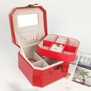 新式のPUの美のケースの多層装飾的な収納箱