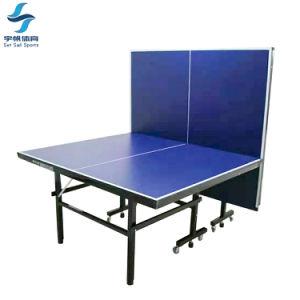 실내 단 하나 폴딩 이동할 수 있는 탁구 테이블