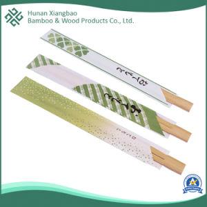 Venda por grosso de qualidade superior da luva de papel individuais Louça de bambu descartáveis japoneses pauzinhos