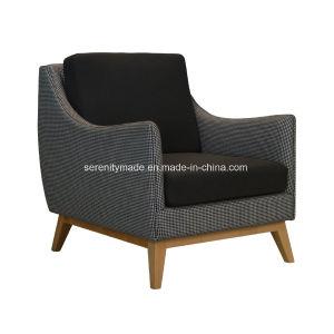 木フレームが付いている卸し売り贅沢なファブリックビロードの家具製造販売業のソファーの椅子
