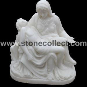 De zuivere Witte Marmeren Natuurlijke Gravure/het Standbeeld/het Beeldhouwwerk van de Steen
