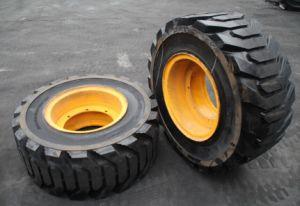 단단한 살쾡이 미끄럼 수송아지 타이어 10-16.5 Loda 상표 타이어