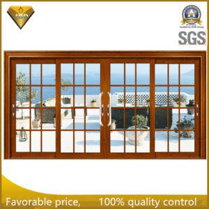Portello scorrevole di alluminio del buon isolamento di Heat&Sound con vetro progettato