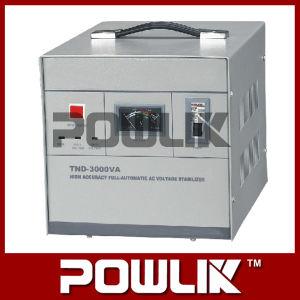 Tnd-3000va elevada precisão de regulador de voltagem AC AUTOMÁTICO