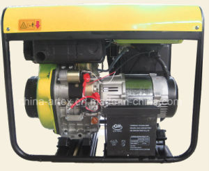 generatore portatile diesel di monofase di CA di 4.2kw/4.2kVA/4200watt 9HP