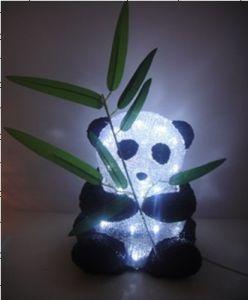 Acrylique Lumière –panda Noël Avec Led Panda De qSUpMzV
