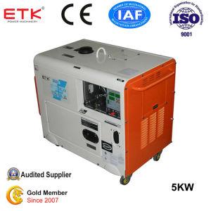 Sonido de alta calidad blanco grupo electrógeno diesel (5kVA)