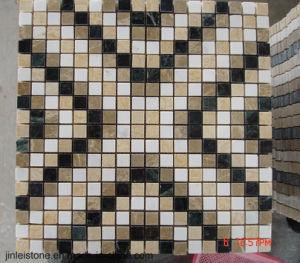 De aangepaste Donkere Emperador Marmeren Tegel van de Muur van het Mozaïek voor de Decoratie van de Badkamers