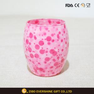 270ml ovale tasse à vin en verre coloré