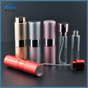 8ml frasco de perfume de vidrio Aluminio Aluminio redondo de torsión