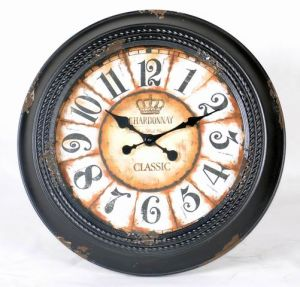 Reloj de pared Metal estilo country Decoración de pared única