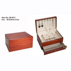 Regalos personalizados de alto brillo envases de madera cajas de almacenamiento de joyas