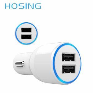 Быстрая зарядка мобильного телефона номер телефона 4.8A Samrt автомобильное зарядное устройство USB