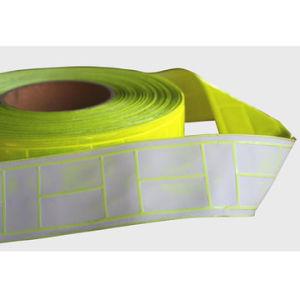 De gele Weerspiegelende Band van pvc, Weerspiegelende Coëfficiënt 200-300CPL/voor de Hoge Kledingstukken van de Veiligheid van het Zicht