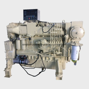 Motor diesel marino 6 cilindros de 220kw 2100rpm