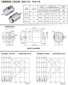 S755 Motor dc de imán permanente para Power Tool/Motor de la batidora