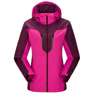 Les femmes à l'extérieur imperméable de Voyage de randonnée Windproof Hooded Jacket