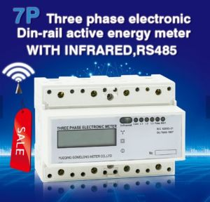 Новые три этапа четыре провода DIN аналоговый/Register дисплей счетчика электроэнергии, дозатор