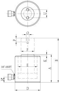 Grande sollevamento Jack sincronizzato idraulico di prezzi di fabbrica di tonnellaggio del martinetto idraulico