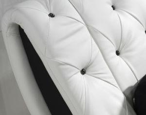 Livro Branco moderno europeu Hot-Selling cama em pele genuína para casa (HC326)