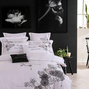 Acetinado europeu clássico Jacquard edredão sedoso conjunto tampa do conjunto de roupa de cama moderna