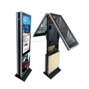 Contrassegno &#160 di Yashi 55 '' Digital; Il doppio parteggia visualizzazione dell'affissione a cristalli liquidi che fa pubblicità al giocatore