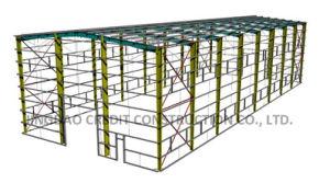 Estructura de acero colorido edificio de almacén