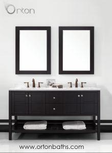 Nordamerikanische Wannen-Eichen-Holz-Eitelkeits-Badezimmer-Möbel des Luxus-zwei