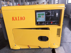 AC Single Phase 50Hz/4.2kw Key Start Silent Diesel Generator with Digital Panel Board for Shop and Hotel Use