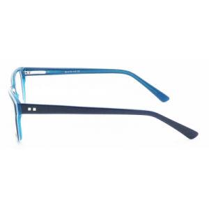 De modieuze Mannen en Vrouwen Van uitstekende kwaliteit Eyewear van het Frame van het Oogglas van het Frame van de Acetaat Optische met de Decoratie van de Laag