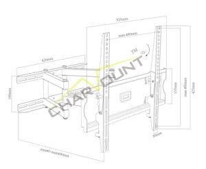 잘 고정된 텔레비젼 단위 (CT-WPLB-4001)