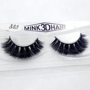 Long de luxe d'alimentation de 100 % Mink 3D de faux cils sous étiquette privée