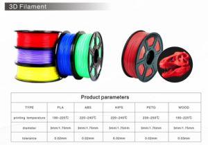 El pla de filamentos para la impresora 3D/3D de Material (1,75mm/3mm).