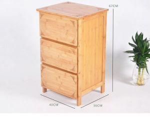 Kasten van het Kabinet van het bamboe de Houten met 3 Laden