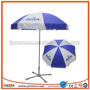 Los logotipos personalizados imprimiendo directamente en el exterior protección UV Windproof Publicidad Promoción de la sombrilla paraguas Sun Beach