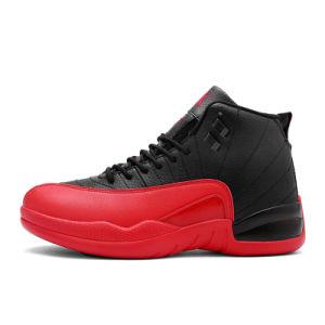OEM Cutom Aj12の方法高品質は人のバスケットボール靴を遊ばす