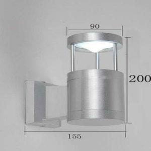 Lámpara de aluminio de alta calidad SGS enumerados de la luz de la pared exterior IP54