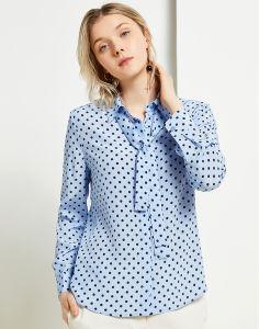 5ce769fa68 Diseño personalizado 100% seda Blusa Moda